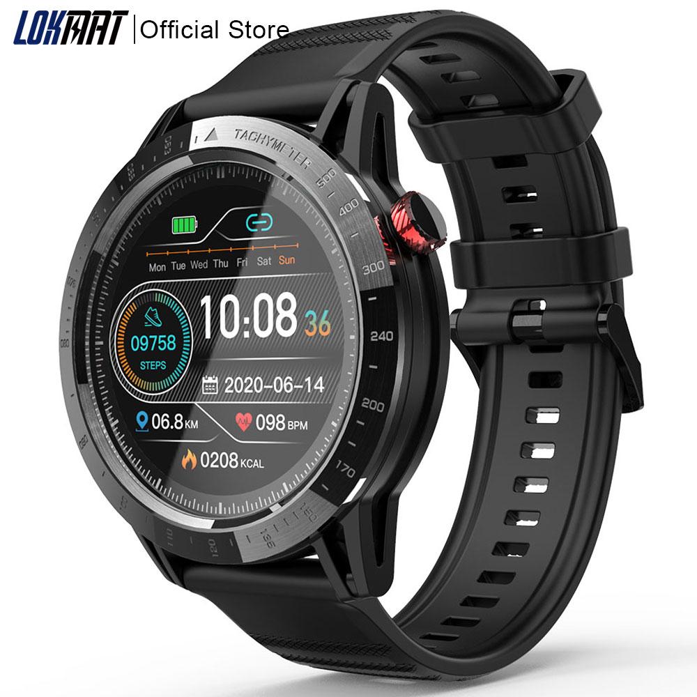 LOKMAT-ساعة كوميت متصلة للرجال والنساء ، مع شاشة تعمل باللمس ، والتحكم في معدل ضربات القلب ، والنشاط البدني ومراقبة النشاط الرياضي ، لنظامي Android ...