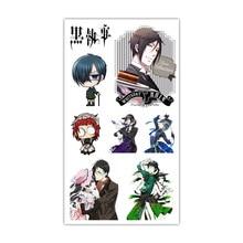 1pc kuroshitsuji Black Butler Tattoo Sticker Anime Stiker Water Transfer Temporary Children Tattoos Paper For Kids Body Arm
