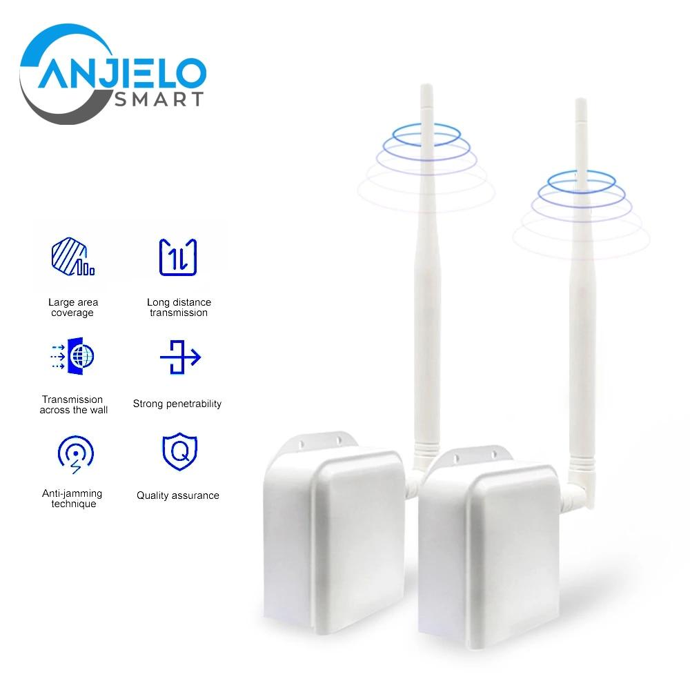 Wireless Bridge Point to Point Long Range Wireless Access with 20DBi High-Gain Antenna,100Mbps 2.4G WiFi Bridge
