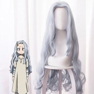 Anime Boku no Hero Academia My Hero Academia Season 4 Eri Cosplay Costume Wigs Long Gray Curly Hairs