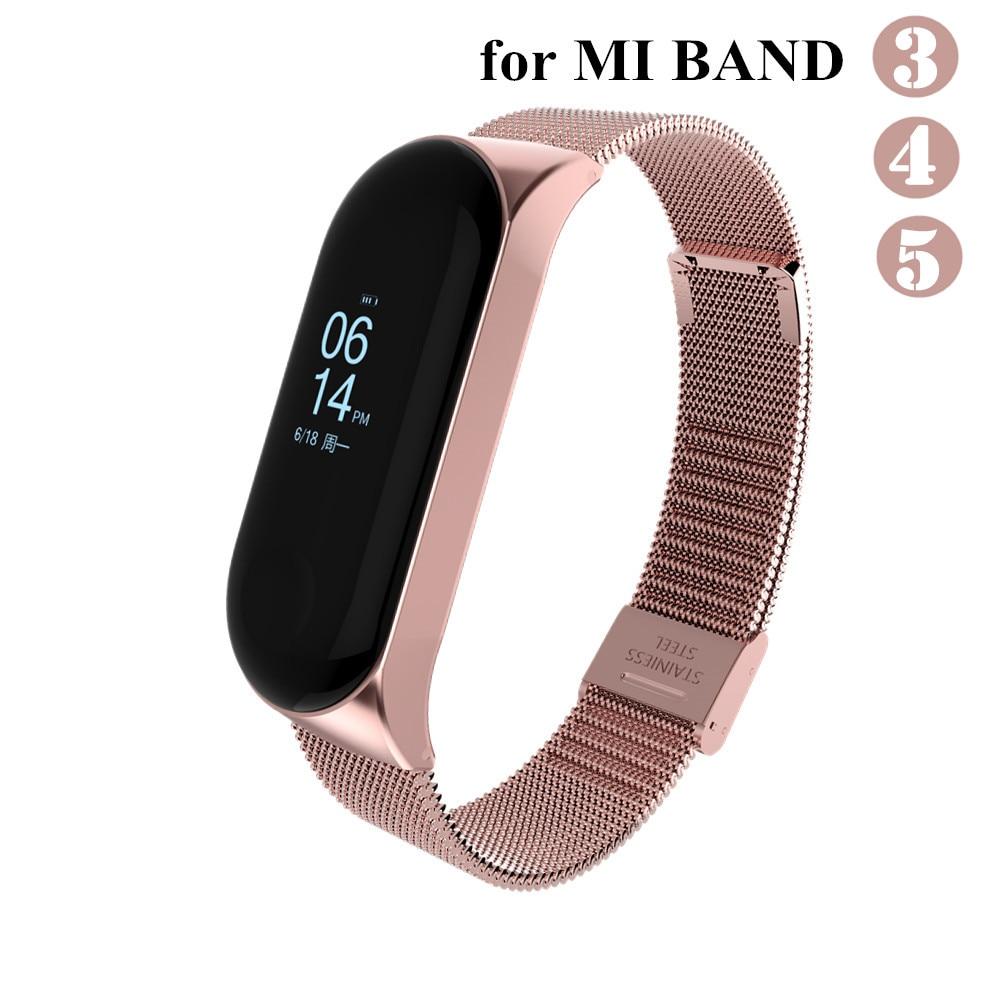 Mi band 3 4 5 Strap Metall für Xiaomi Mi Band 5 4 3 Armband Schraubenlose Xiaomi Mi Band 4 armband Correa Xiomi MiBand 3 Handgelenk Band