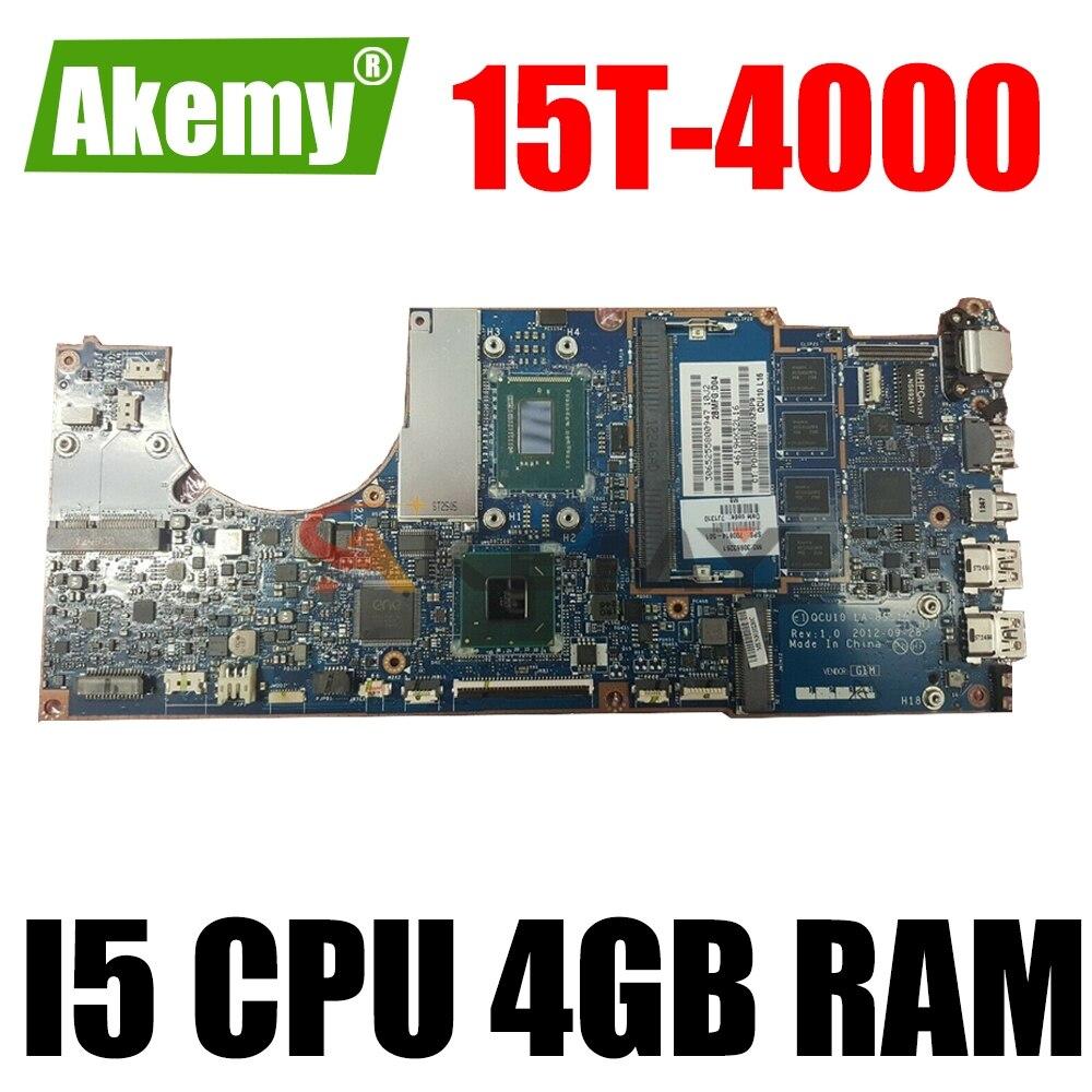 700814-501 700814-601 700814-001 ل HP spece XT Touchsmart 15T-4000 اللوحة الأم للكمبيوتر المحمول ث/I5 CPU LA-8551P 4GB RAM DDR3