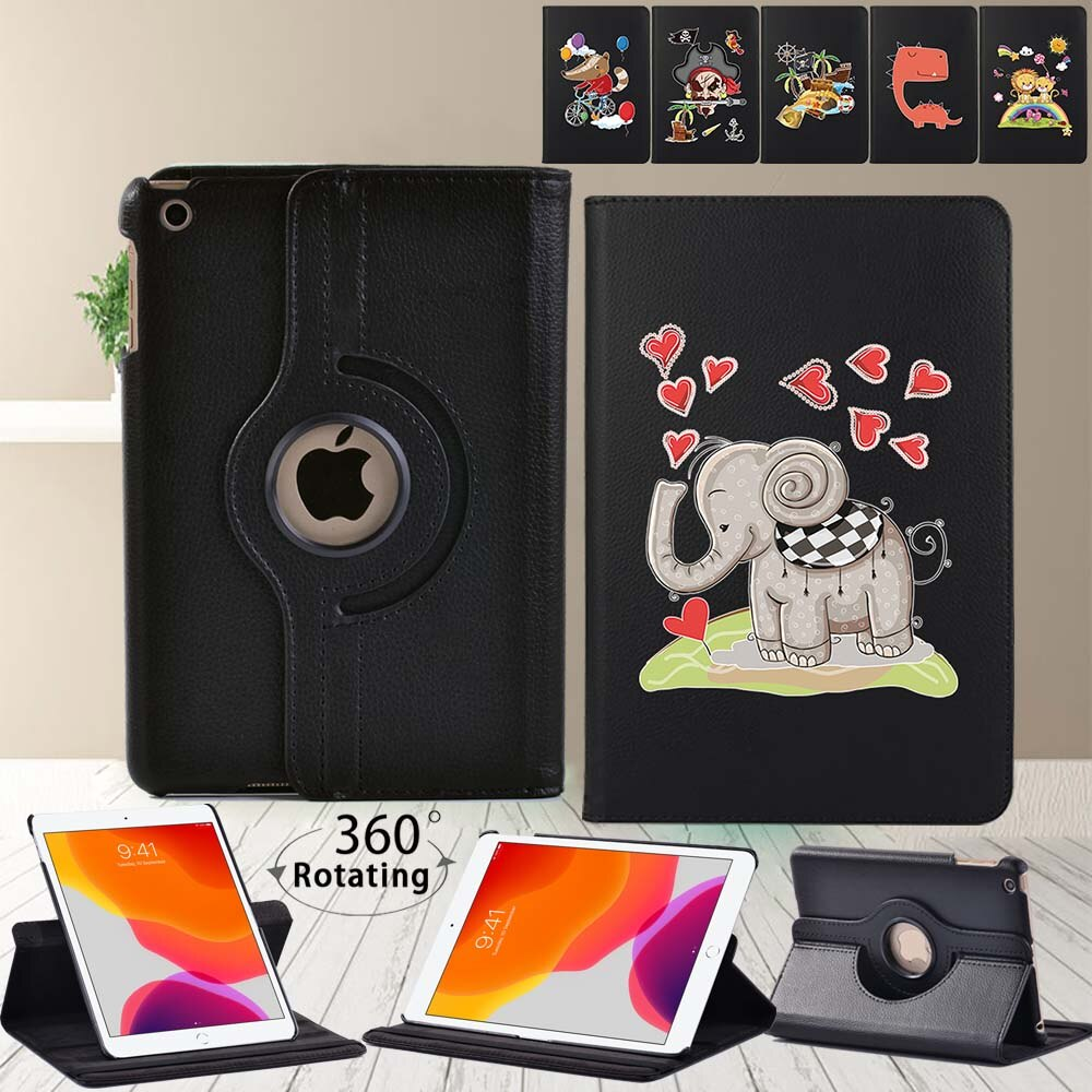 For Apple Ipad Mini 4 5/ipad 2 3 4 360 Degrees Rotating Tablet Case for IPad (5th/6th/7th/8th Gen) Smart Cover Case with Pattern