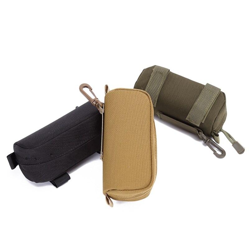 Estuche militar de gafas de sol de poliamida 1000D, bolsa de soporte para gafas de sol, bolsa táctica de transporte militar