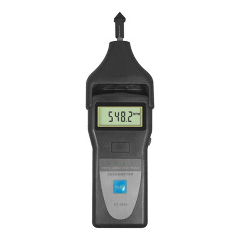 Tachymètre de précision professionnel LANDTEK DT-2858 utilisé pour mesurer la vitesse Rotative, la vitesse de Surface, la fréquence du moteur, le vapeur.