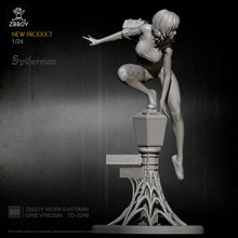 1/24 Resin Model Kits Spider-Man Figure Self-assembled TD-2248
