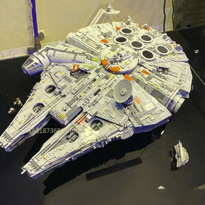 05132 nuevo milenios 8445 piezas 75192 Compatible con Lepining Star Wars halcón Serie Final coleccionistas modelo de construcción ladrillos Juguetes