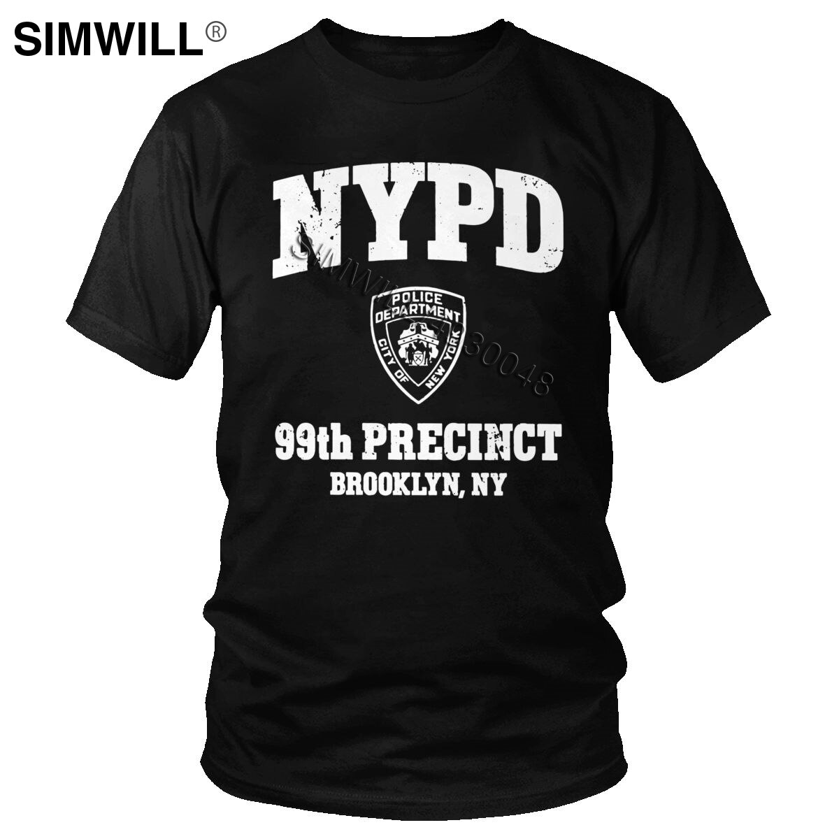 Camiseta Retro Brooklyn Nine para hombre de algodón ecológico 99th precinto Brooklyn NY 99 Camiseta de manga corta Slim Fit TV Merch Tee Tops