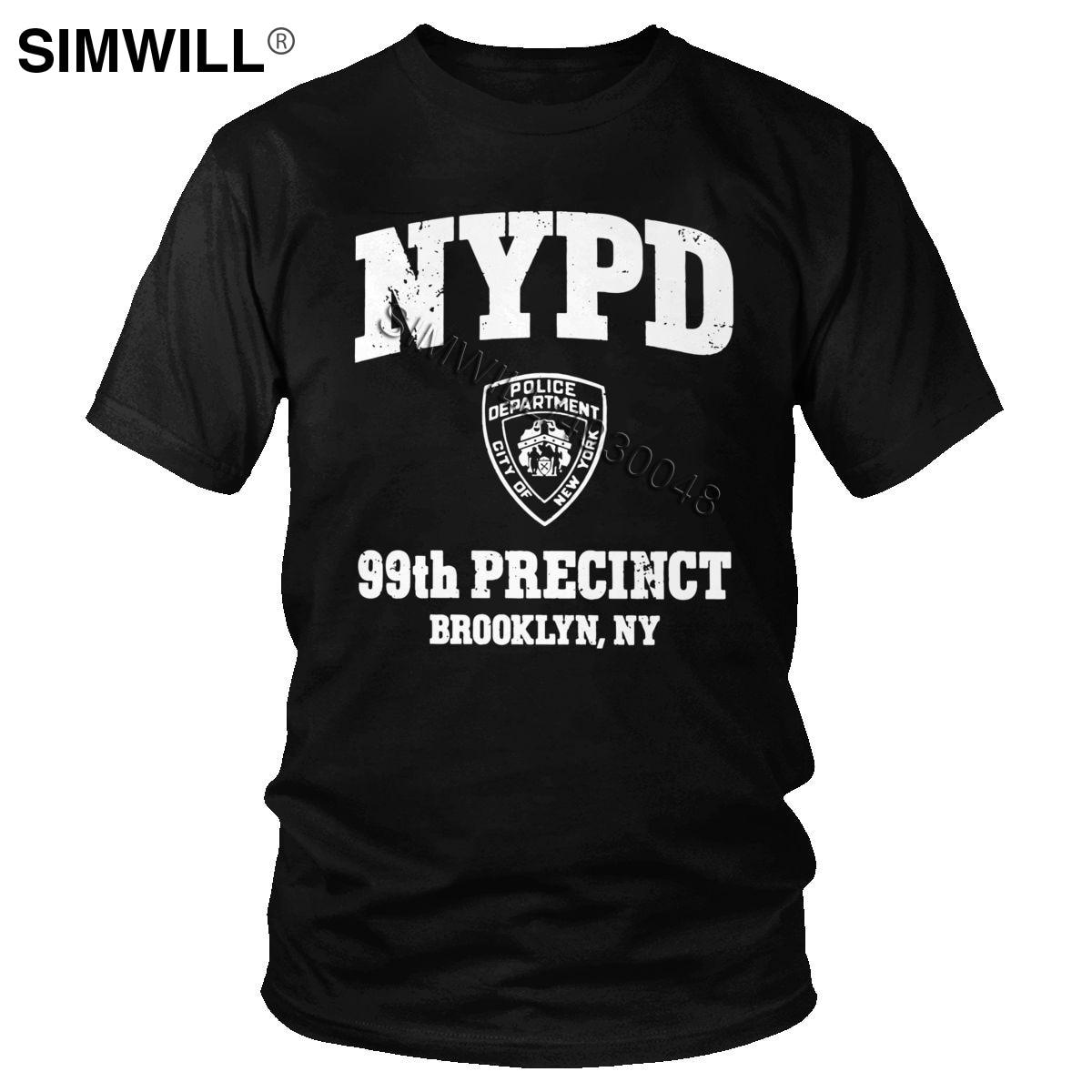 Мужская футболка в стиле ретро Brooklyn Nine, экологичный хлопок, 99-й участок, Бруклин, NY 99, футболка с короткими рукавами, приталенная, ТВ Мерч, фут...