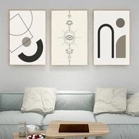 abstract geometry canvas painting nordic eyes wall art poster beige minimalist line drawing art print modern pictures home decor