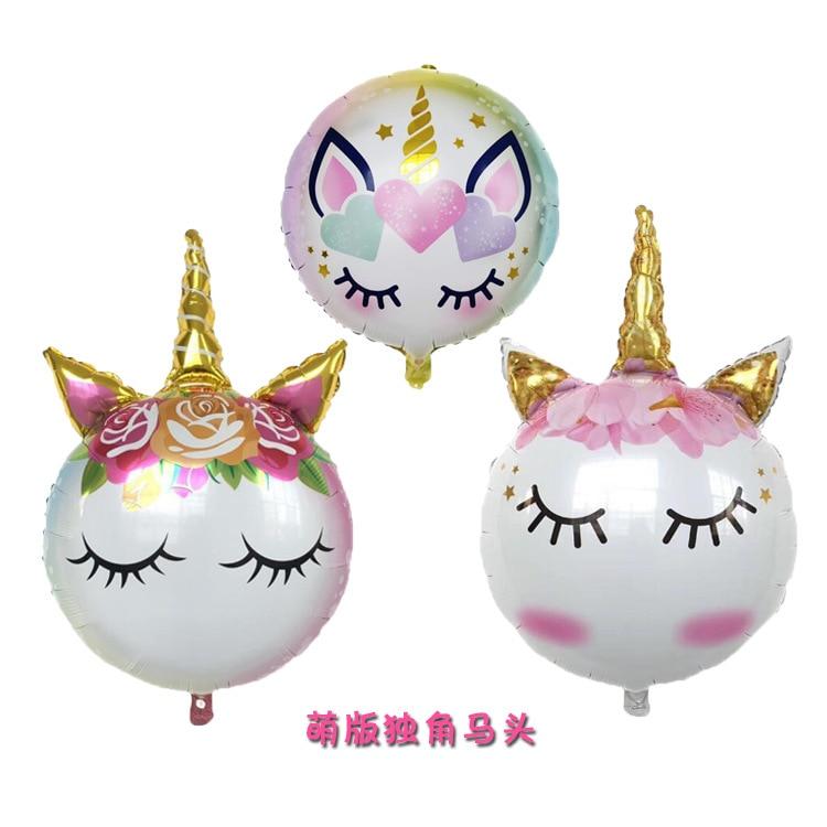1 шт. 90*60 милый фольгированный воздушный шар-единорог с днем рождения надувные шары для свадьбы и дня рождения Единорог вечерние товары для д...