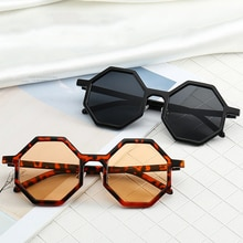 Polygon Women's Sunglasses Vintage Octagon Sunglasses for Women Men Square UV Protect Goggle Sun Gla
