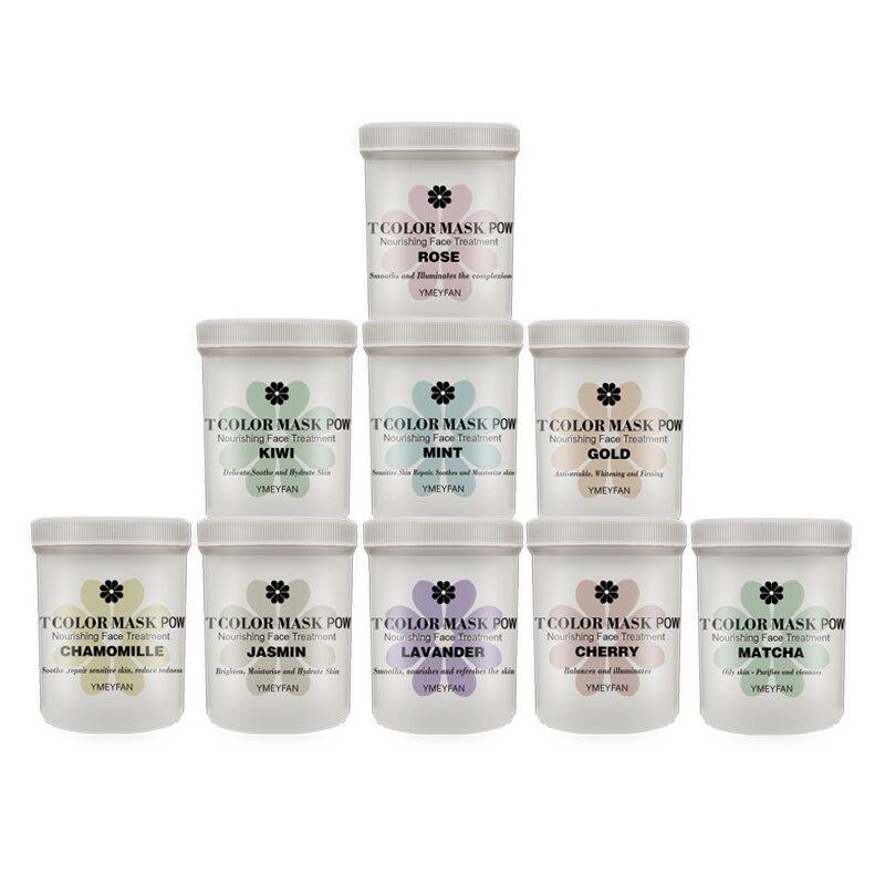 Express Wholesale 9pcs DIY SPA Beauty Salon Home Use Whitening Rose Gold Peel Off Modeling Facial Soft Hydro Jelly Mask Powder