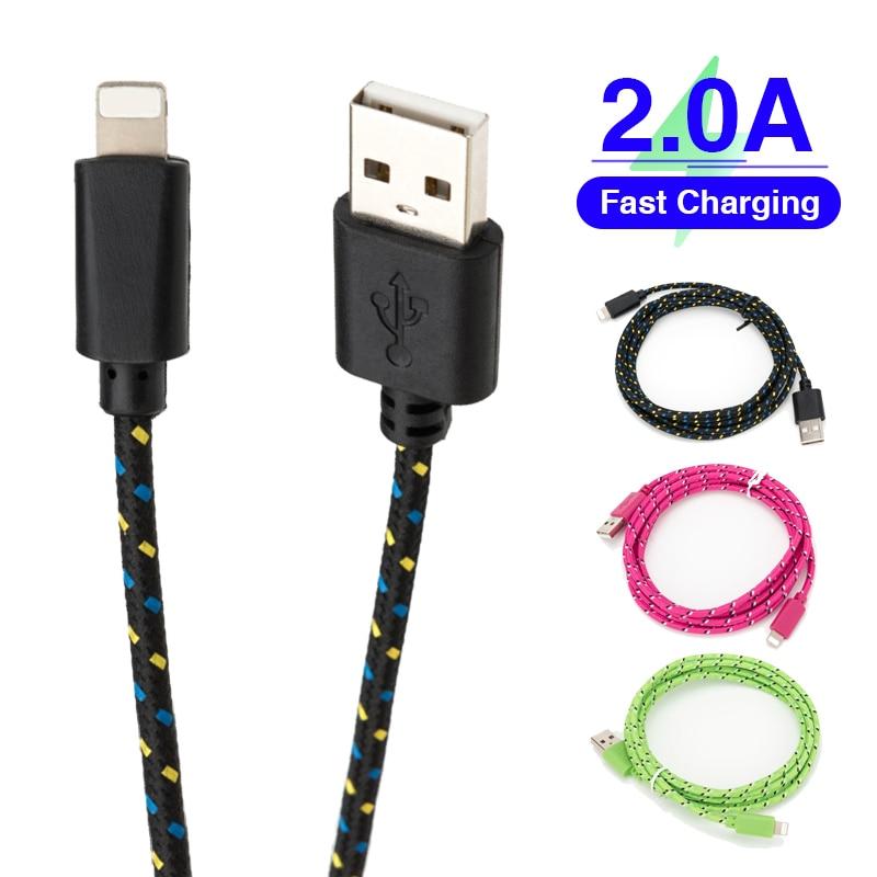 Cable USB a Lightning para iphone 11 pro max Xs Xr X SE 2 8 2 8 2 8 2 8 7 6 plus 6s 5s rápido cables de carga para los airpods cargador de línea de datos