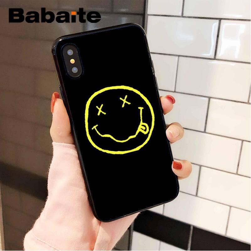 Nirvana kurt cobain coque escudo caso de telefone para o iphone 8 7 6s plus x xs max 5 5S se xr capa móvel