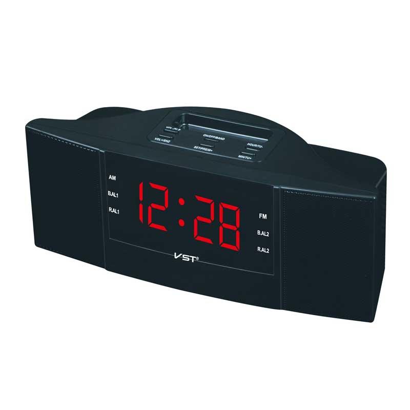Neue Mode Moderne AM/FM LED Uhr Radio Elektronische Desktop Wecker Digital Tischuhren Snooze Funktion Für Hause büro