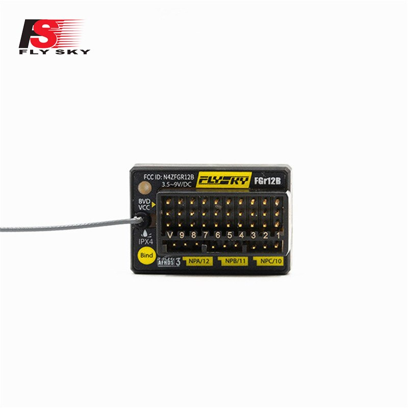 FlySky FGr12B 2,4 GHz 12CH AFHDS 3 PWM/PPM/autobús/B autobús salida Micro RC receptor para PL18 NB4/Lite RC coche barco FPV Raing Drone