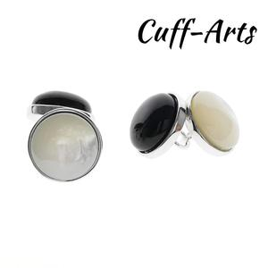 925 Studs Cufflinks for Men Onyx and MOP Studs 7.0g Gifts for Men by Cuffarts C10522