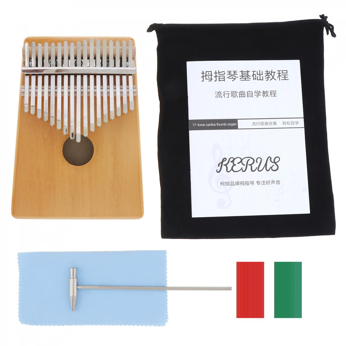 Thumb Piano 17 Keys Thumb Piano Kalimba Single Board Pine Mbira Mini Keyboard Instrument Thumb Piano enlarge