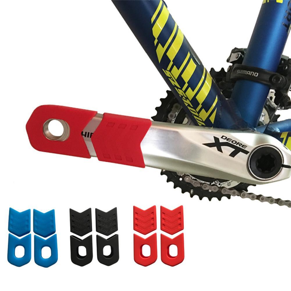 1 ensemble vélo pédalier manivelle manchon protecteur montagne route vélo bras bottes engrenage fixe vélo manivelle couverture de protection