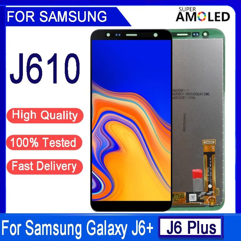 AliExpress - 6.0 inch Original For Samsung Galaxy J6 Plus J610 SM-J610F J610FN LCD display Touch Screen Assembly for Samsung J6+ lcd screen