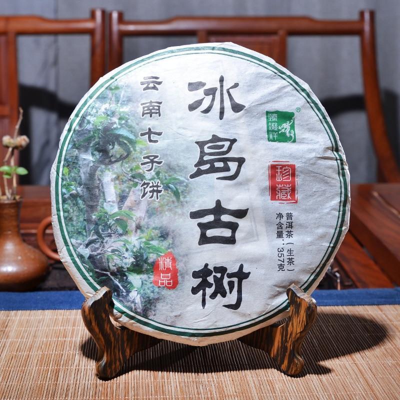 Té chino Yun Menghai puer especial pastel verde orgánico té puerh 357g puro belleza Natural salud Puer té
