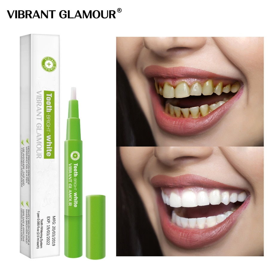 VIBRANT GLAMOUR Teeth Whitening Pen Remove Yellow Tooth Stains Solid Remove Tartar Clean Dental Tool Whitenning Tooth Care Gel
