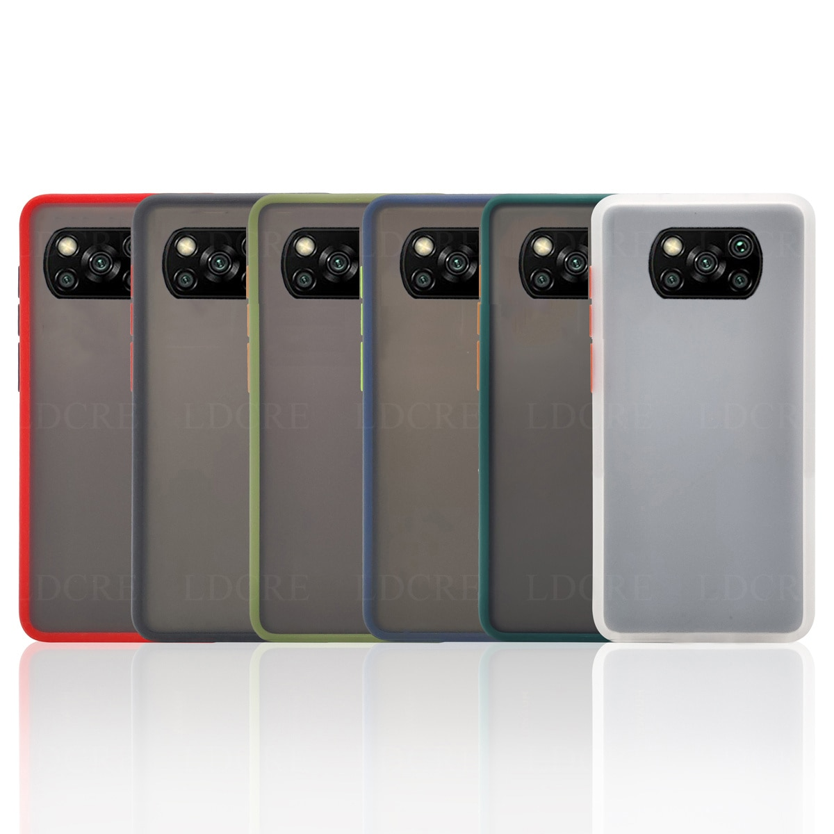 For Xiaomi Poco X3 Pro Case Shockproof Armor Matte Frosted Hard Case For Xiaomi Poco X3 NFC Bumper Cover for Xiaomi Poco X3 NFC