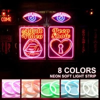 smd2835 dc12v led neon light holiday decoration light waterproof flexible led strip for home decor neon sign flex for rooms