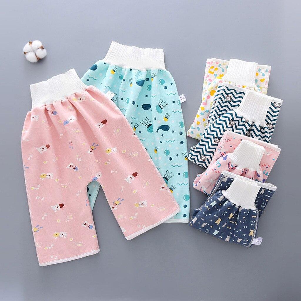 2020 cómoda falda de pañal para niños adultos pantalones de pañales para niños impermeable y a prueba de fugas cintura elástica pañales pantalones sueltos
