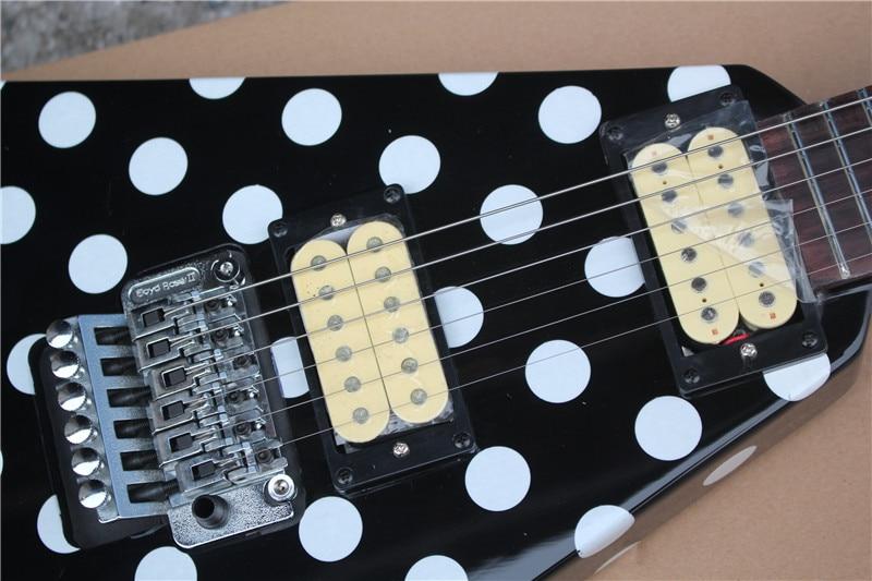 Randy Rhoads Signature Electric Guitar Polka Dot Finish Top China Guitar Double shake vibrato multi color o,free shipping enlarge
