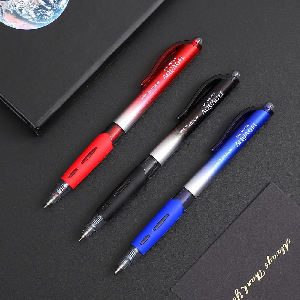 1 ud. Bolígrafo de Gel TOMBOW Simplicity de 0,5mm bolígrafo de escritura suave Negro Azul Rojo bolígrafo de Color neutro material de oficina comercial