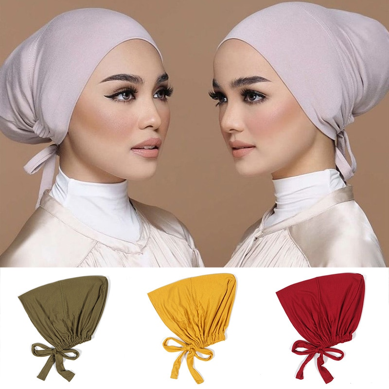 Мусульманская женская шапка под шарф, мягкая хлопковая женская шапка-тюрбан, женская шапка