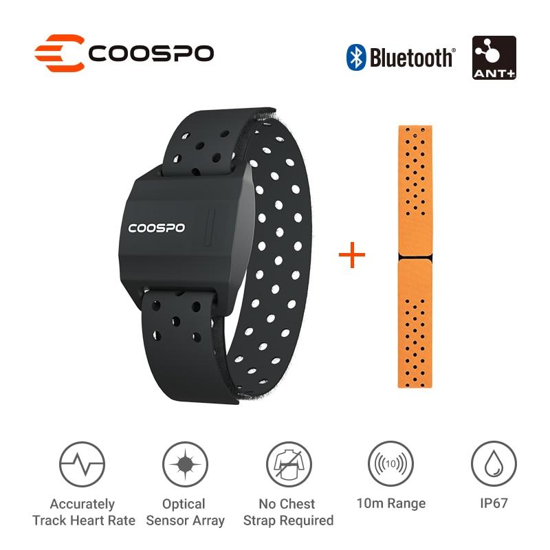 CooSpo Heart Rate Monitor Armband Optical Fitness Outdoor Heart Rate Sensor Bluetooth 4.0 ANT+ For Garmin Wahoo Bike Computer недорого