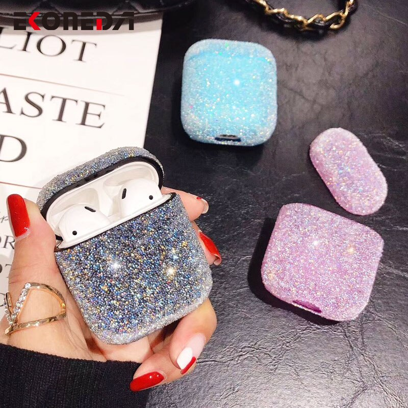 EKONEDA Bling Luxus Diamanten Fall Für Airpods Fall Candy Farben Mädchen Schutzhülle Für Airpods 2 Airpods pro kopfhörer cases