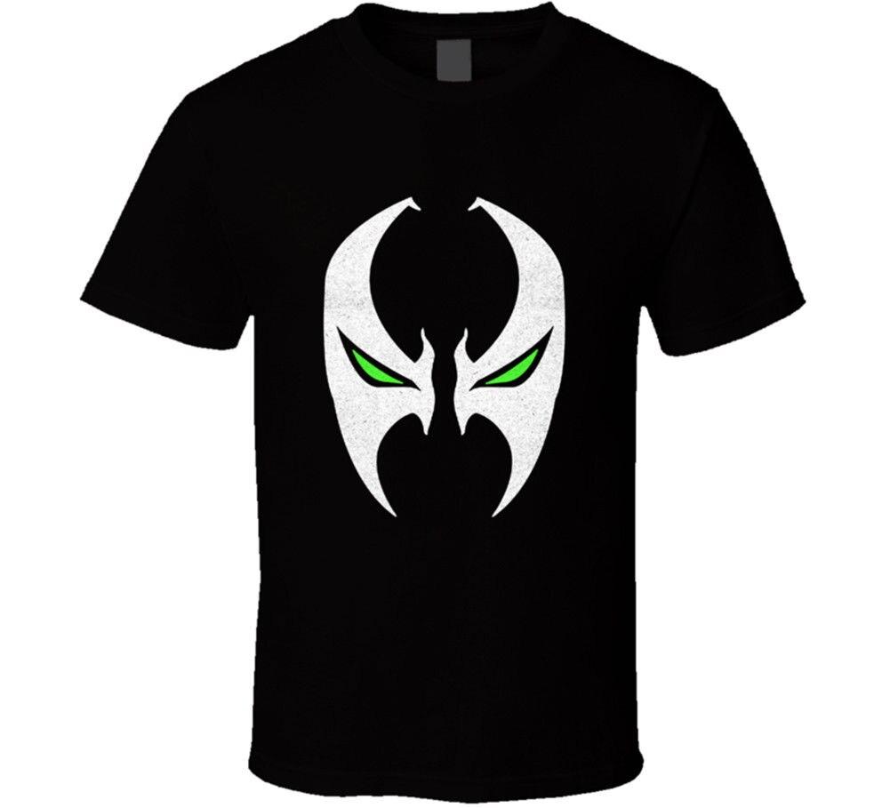 Camiseta de manga corta de algodón con estampado de superhéroe, máscara de Spawn, superhéroe, remera de cómic con estampado de TOD Mcfarlane