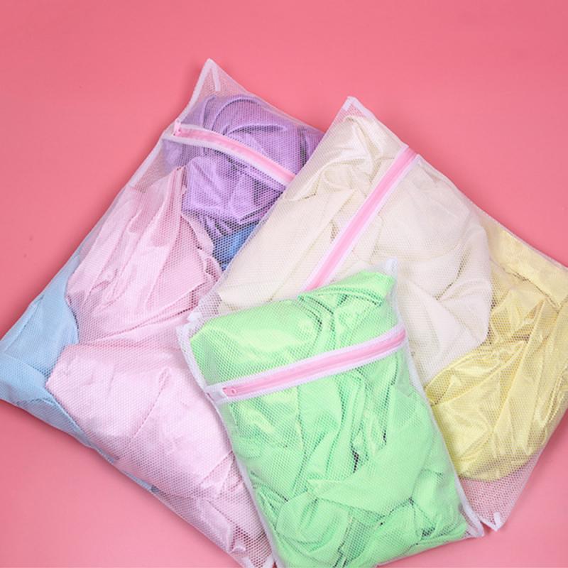Lavandería bolsa de uso de malla de ropa organizador Seyahat Almacenamiento de ropa interior y calcetines de lavado de maletines de organizador de ropa bolsa