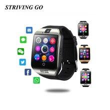 Montre intelligente avec caméra Q18 Bluetooth Smartwatch SIM TF carte Slot Fitness activité Tracker Sport montre PK DZ09 U8 T8 A1