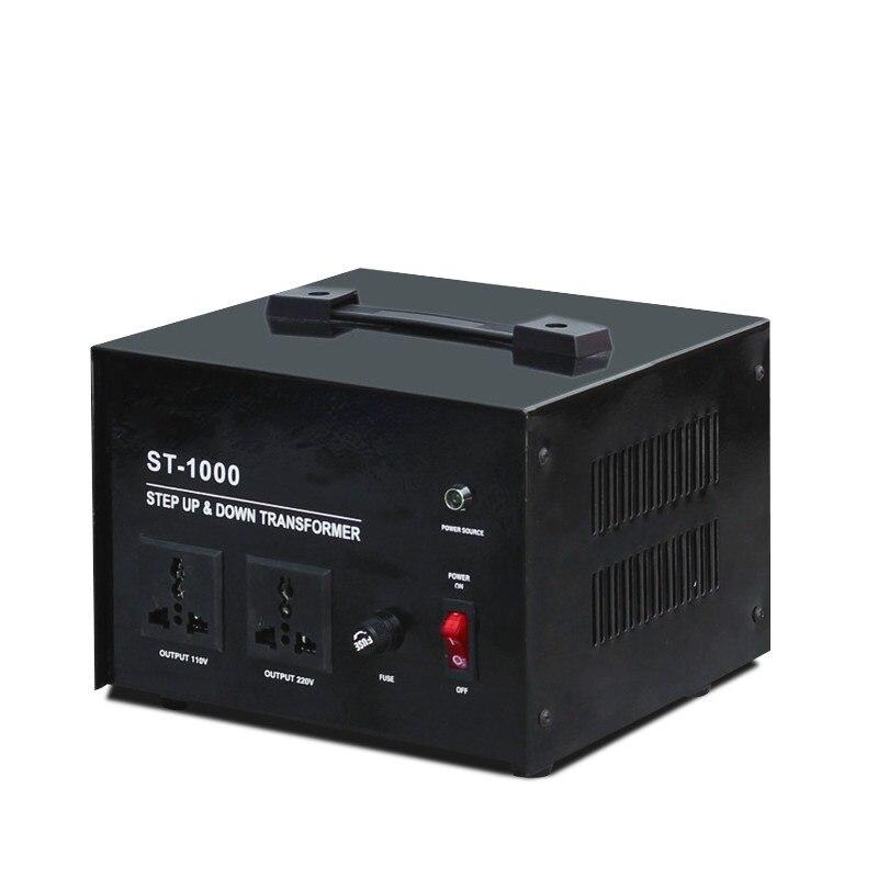 Conversor de potência ST-1000VA v da c.a. do transformador da fase monofásica de cobre 220 a 110 v 100 v 1000 w para dispositivos importados da américa do norte de japão