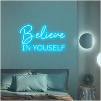 ohaneonk custom believe in yourself led neon sign wall art gift for office school home room wall decor motivational slogan