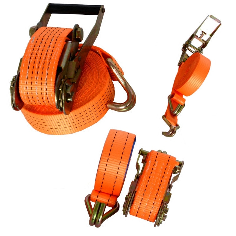 1Set high quality ratchet tie down straps with double hook Car Luggage Cargo Truck Polyster Tape Auto Bundling Belt Tension Rope