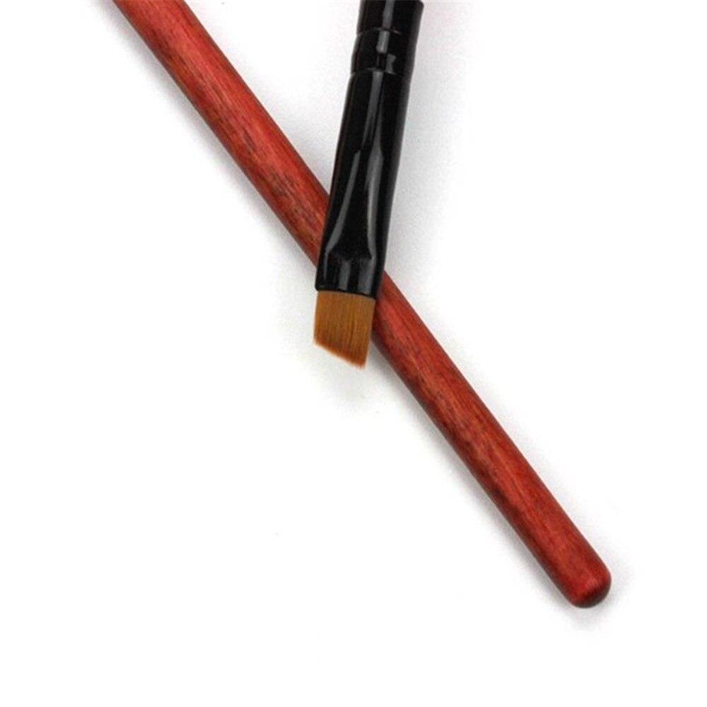 1 pinceles de maquillaje delineador de ojos cepillo de cejas mango de madera antiojeras profesional herramientas cosméticas gran oferta