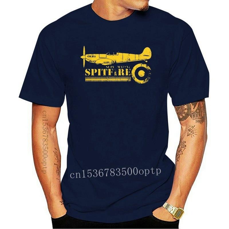 New Men WW2 Battle Of Britain Fighter RAF Spitfire T Shirt Plane War Pilot Aircraft Airplane Cotton Short Sleeve Tee Printed T-S