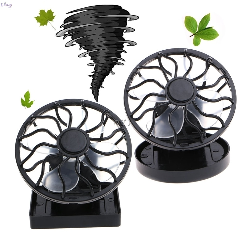 Mini Clip-on Solar Fan Direct Sun Panel Powered Portable Summer Cooling Fan For Travel Camping Fishing Outdoors Cooler