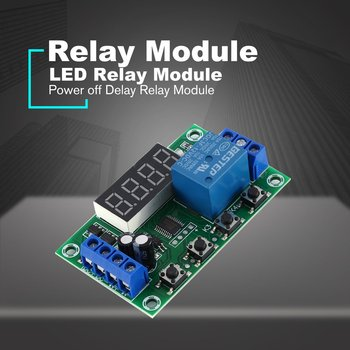 DC 12V 5A Adjustable LED Relay Module Power off Delay Timer Control Switch Board Cyclic Trigger Delay