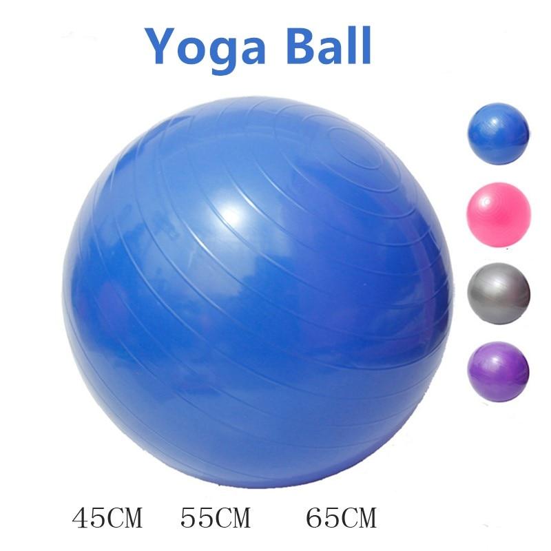 45cm/55cm/65cm Yoga Balls Sports Fitball Training Bola Pilates Balance Ball Gym Fitness Workout Exercise Massage Ball