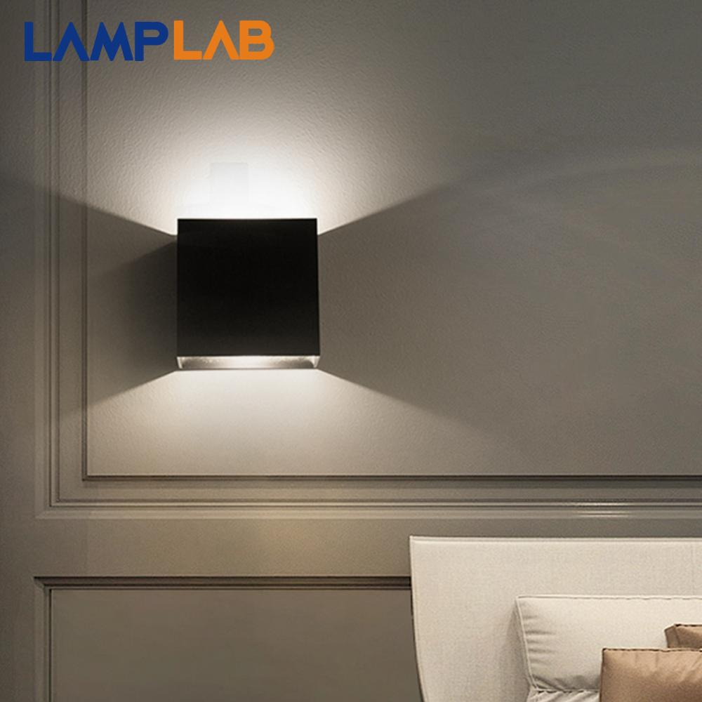 Lámpara Led cuadrada de pared, candelabros de cabecera regulables, 110V, 220V, estudio, escaleras, sala de estar interior, accesorio de iluminación, 6W, decoración para pasillo de Hotel