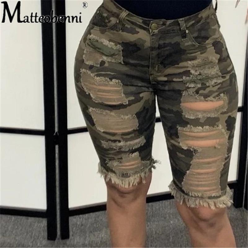 Модные женские туфли с камуфляжным принтом джинсовые шорты 2021 летнее платье размера плюс с высокой талией рваные обтягивающие укороченные ... фото