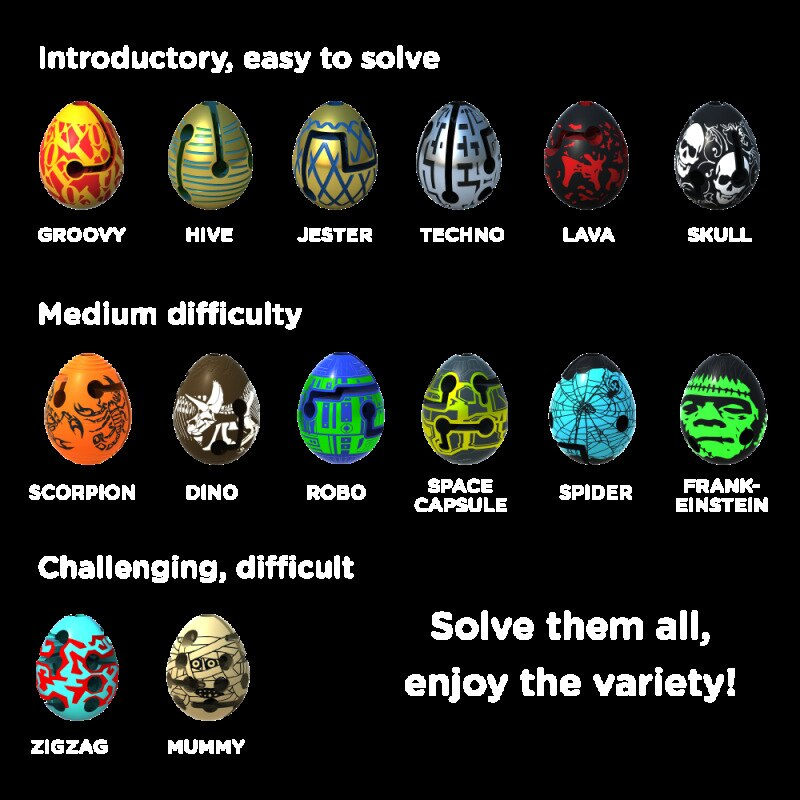 Fidget Toys Easter Eggs Kids Puzzle Balls Magic Stress Relief Hand toys Labyrinth Creative Educational Games for Children Gifts enlarge