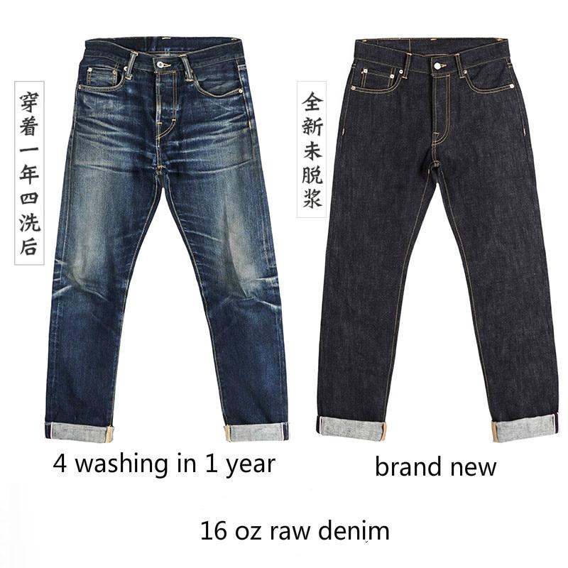 511XX-0001 RockCanRoll читать описание! Тяжелый вес индиго Selvage мыть 16 унций брюки Sanforized толстые необработанные джинсы
